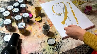 Cer i Greu - Celf Taflu Paent! | Throwing Paint Art with Mirain