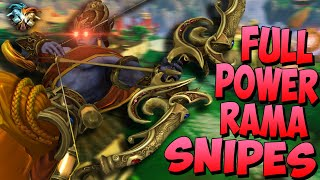 MONTAGE WORTHY SNIPES FULL POWER RAMA BUILD MAKES ULT OP Masters Ranked Duel SMITE