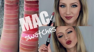 30 MAC LIP SWATCHES | Jazzi Filipek