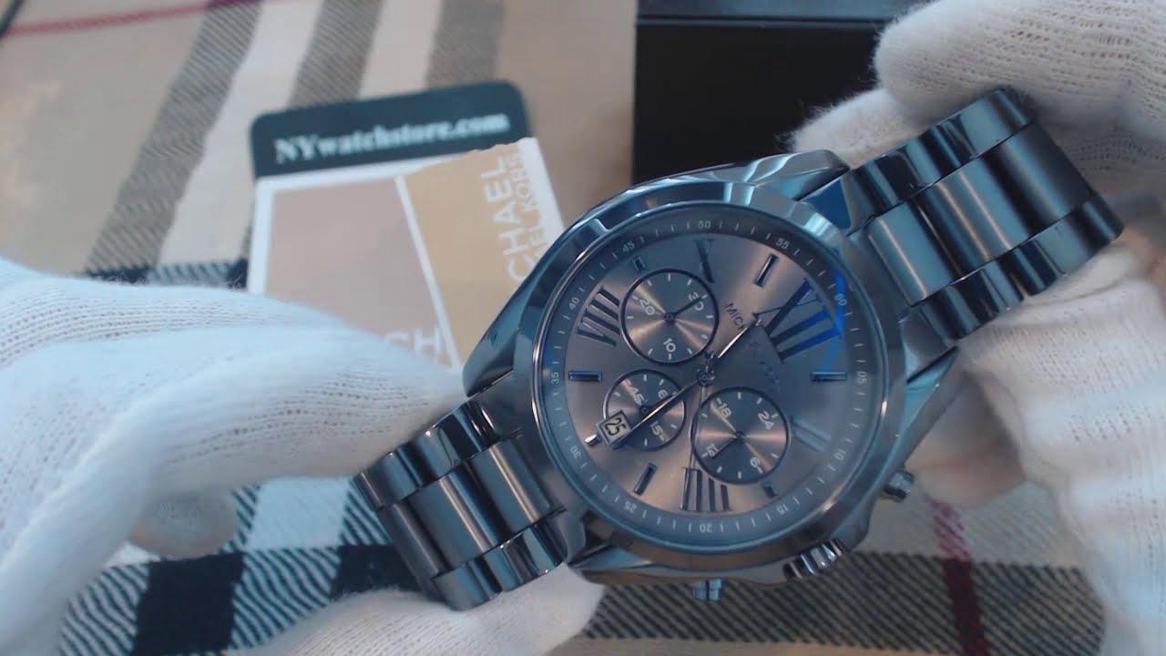 cb842f93a41e Women s Michael Kors Bradshaw Blue Tone Watch MK6248 - YouTube