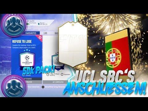 NEUE UEFA CHAMPIONS LEAGUE SBC + 50k Pack FIFA 19 Ultimate Team RTG#33