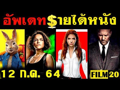 อัพเดทรายได้หนัง Black Widow - F9 - Peter Rabbit 2 - Cruella - Wrath of Man อื่นๆ ณ 12 ก.ค..64