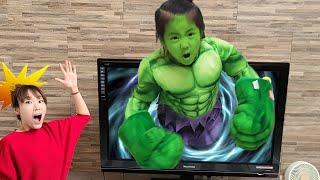 티비에서 헐크가 나왔어요 서은이의 헐크 무찌르기 대작전 Seoeun VS Hulk SeoeunStory