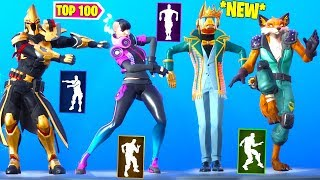 TOP 100 NEW FORTNITE DANCES - EMOTES LOOKS BETTER WITH THESE SKINS!!!