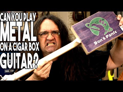 Can you play metal on a CIGAR BOX guitar? | Spectre Sound Studios