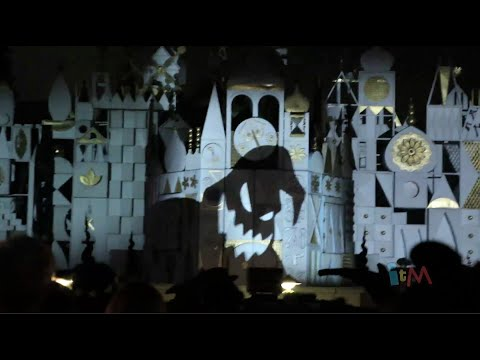 Halloween Screams fireworks with It's a Small World Projections at Disneyland