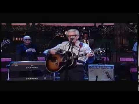 Nick Lowe Children Go Where I Send Thee - Letterman 12-11-2013