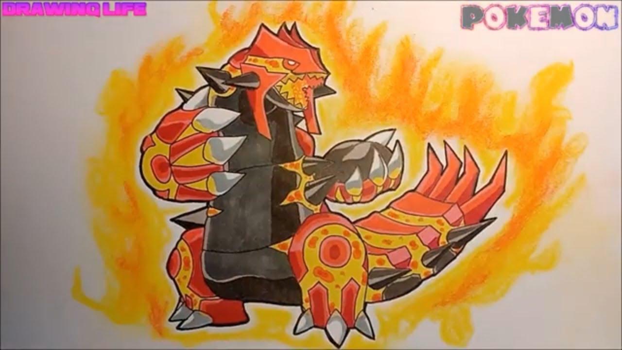 hướng dẫn vẽ Mega Groudon pokemon huyền thoại siêu mạnh