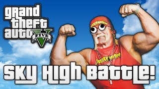 GTA V: SKY HIGH BATTLE! (GTA 5 Online Funny Moments)