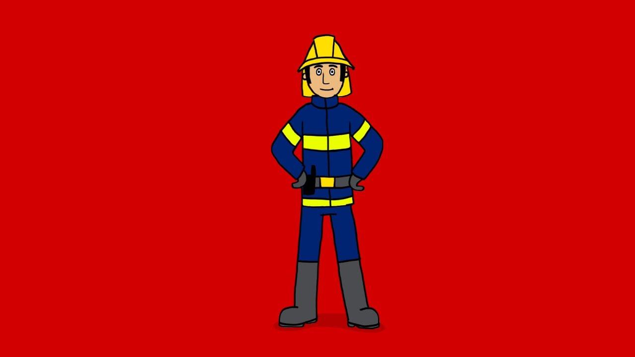Apprendre dessiner un pompier youtube - Dessin pompier facile ...