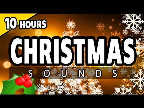 CHRISTMAS EVE SOUNDS - SNOW and SLEIGH BELLS ambience with carols - CHRISTMAS DAY SOUNDS