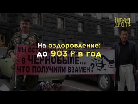 Сколько государство выплачивает чернобыльцам?