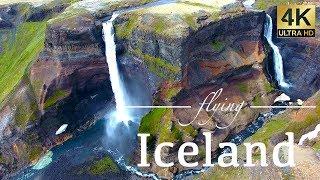 Iceland By Drone   Skogafoss, Dettifoss, Godafoss Waterfalls & More 4k Travel Footage