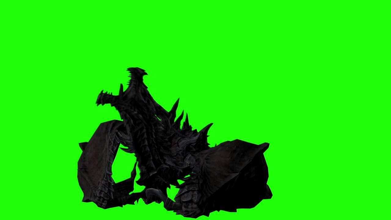 dragon green screen alduin skyrim royalty free green screen footage