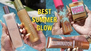 TESTING OUT THE BEST BODY SHIMMERS FOR SUMMER