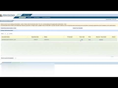 Defense Travel System (DTS): Uploading Substantiating Records