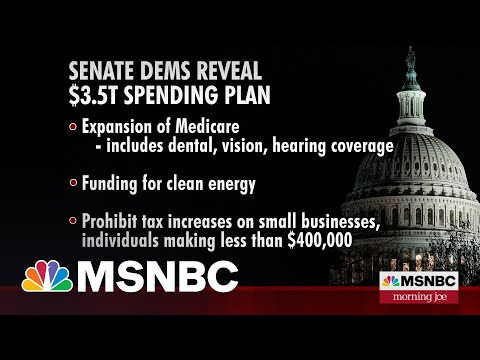 Senate Democrats Reveal $3.5 Trillion Spending Plan
