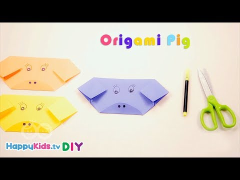 Origami Pig | Paper Crafts | Kid's Crafts And Activities | Happykids DIY