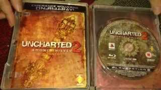 Nostalgamer Unboxes All Uncharted Series PS3 On Sony Playstation 3 Three UK PAL US System Version
