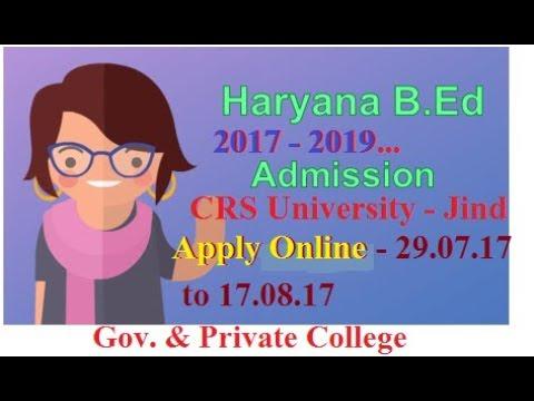 Haryana B.ed Admission Apply 2017 -19 , Regular & Private