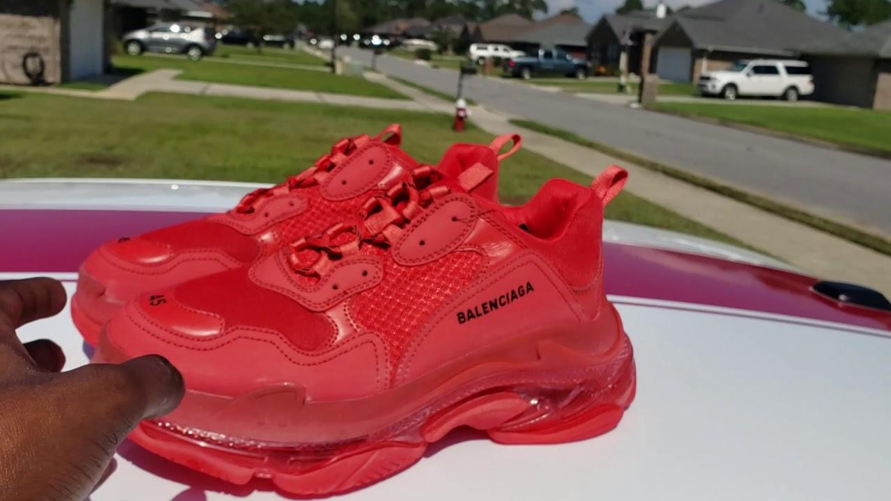 Red Triple S Balenciaga Shoes