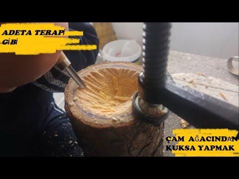 Ahşap Oyma (Kuksa - Çam Ağacından Bardak Yapımı ) Part:1  4K UHD | wood carving