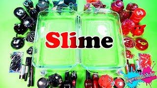 Mezclando todo Rojo vs Negro en Slime ( con mi hermano ) / Supermanualidades
