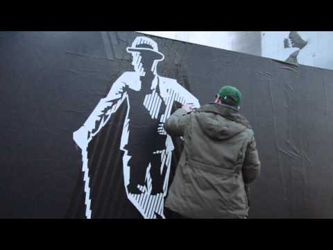 """""""Stromae""""- making of Street art out of duct tape"""
