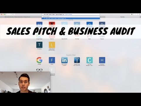 SALES PITCH and Business Audit Prep  Social Media Marketing