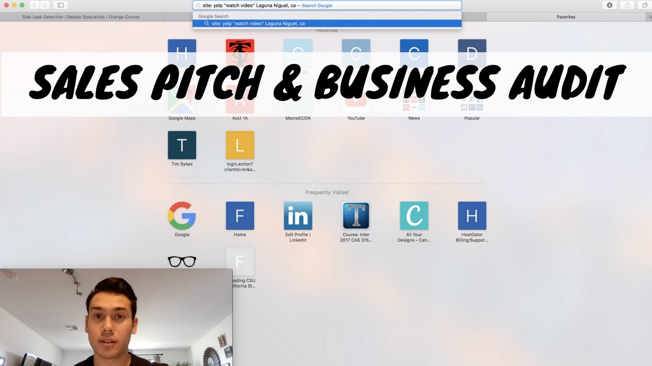 Sales pitch and business audit prep social media marketing for Advertising agency pitch