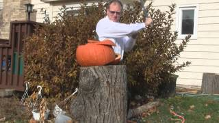 Hanwei Taichi sword cutting pumpkins a few years ago