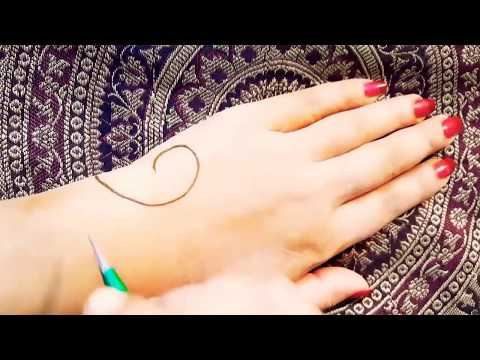 New trendy mehndi design tutorial || easy stylish arabic mehndi design thumbnail