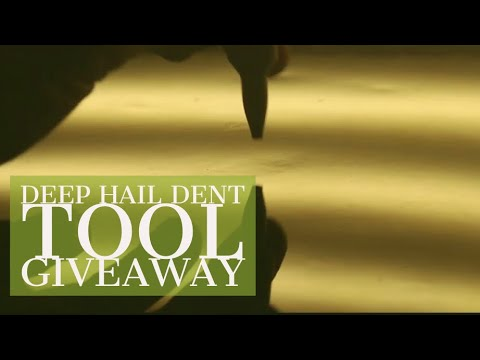 DEEP Hail Dent Repaired With PDR  - How To Fix Dents Without Paint / Dent Tools Giveaway!