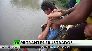 Migrantes frustrados de la caravana deciden volver a sus casas