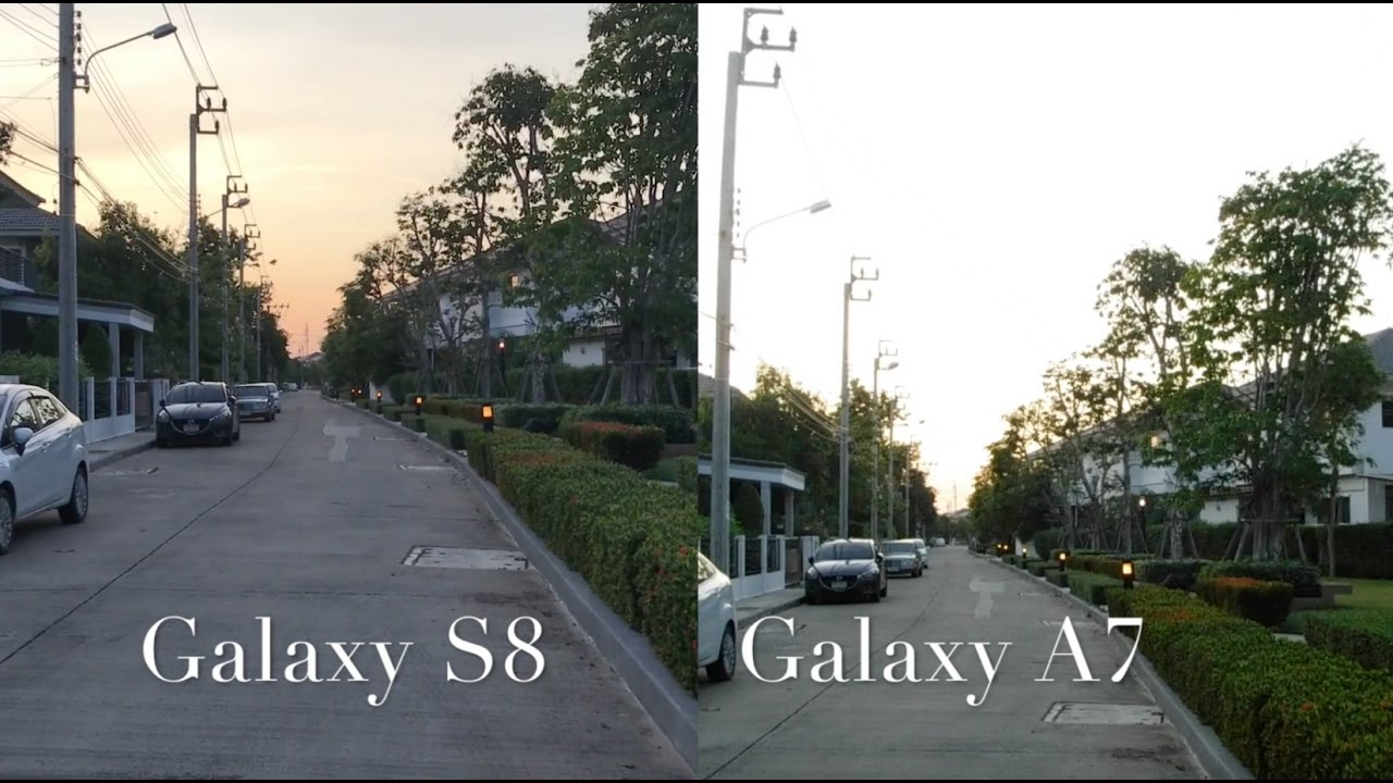 SAMSUNG GALAXY S8 vs SAMSUNG GALAXY A7 2017 CAMERA TEST ...