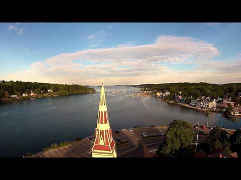 Aerial video of Mahone Bay, Nova Scotia