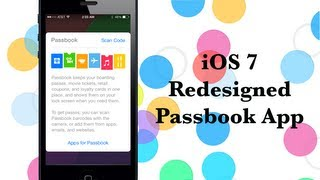 iOS 7 Redesigned Passbook App: Hands-on