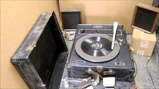 Western Electric 300A Reproducer Turntable Demo