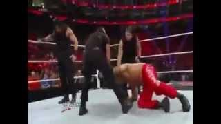 The Shield destroys Khali / Seth Rollins Turnbuckle Dive - RAW
