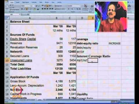 Mod-07 Lec-15 Financial Statements Analysis