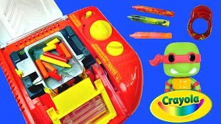 Crayola Melt N Mold Factory DIY Teenage Mutant Ninja Turtles Disney Planes Crayon Maker Molds