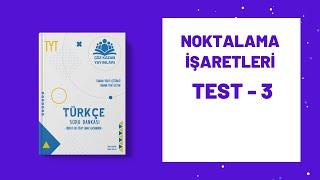 Çöz Kazan TYT Türkçe Soru Bankası Noktalama İşaretleri Test 3