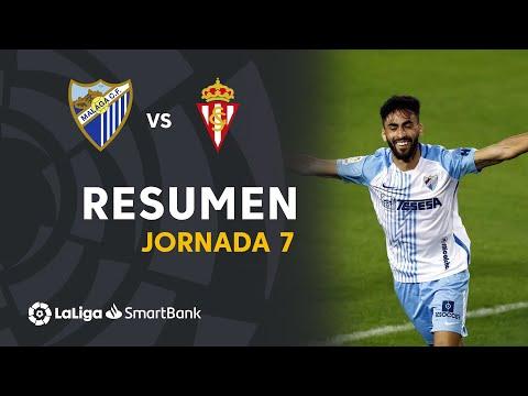Malaga Gijon Goals And Highlights