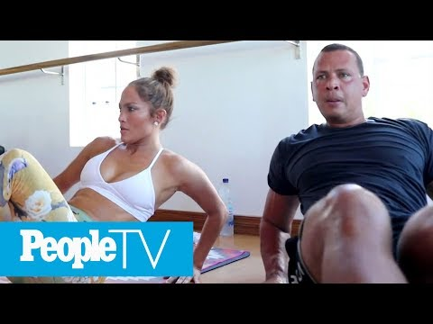 Jennifer Lopez & Alex Rodriguez Take You Inside Their Intense TruFusion Workout | PeopleTV
