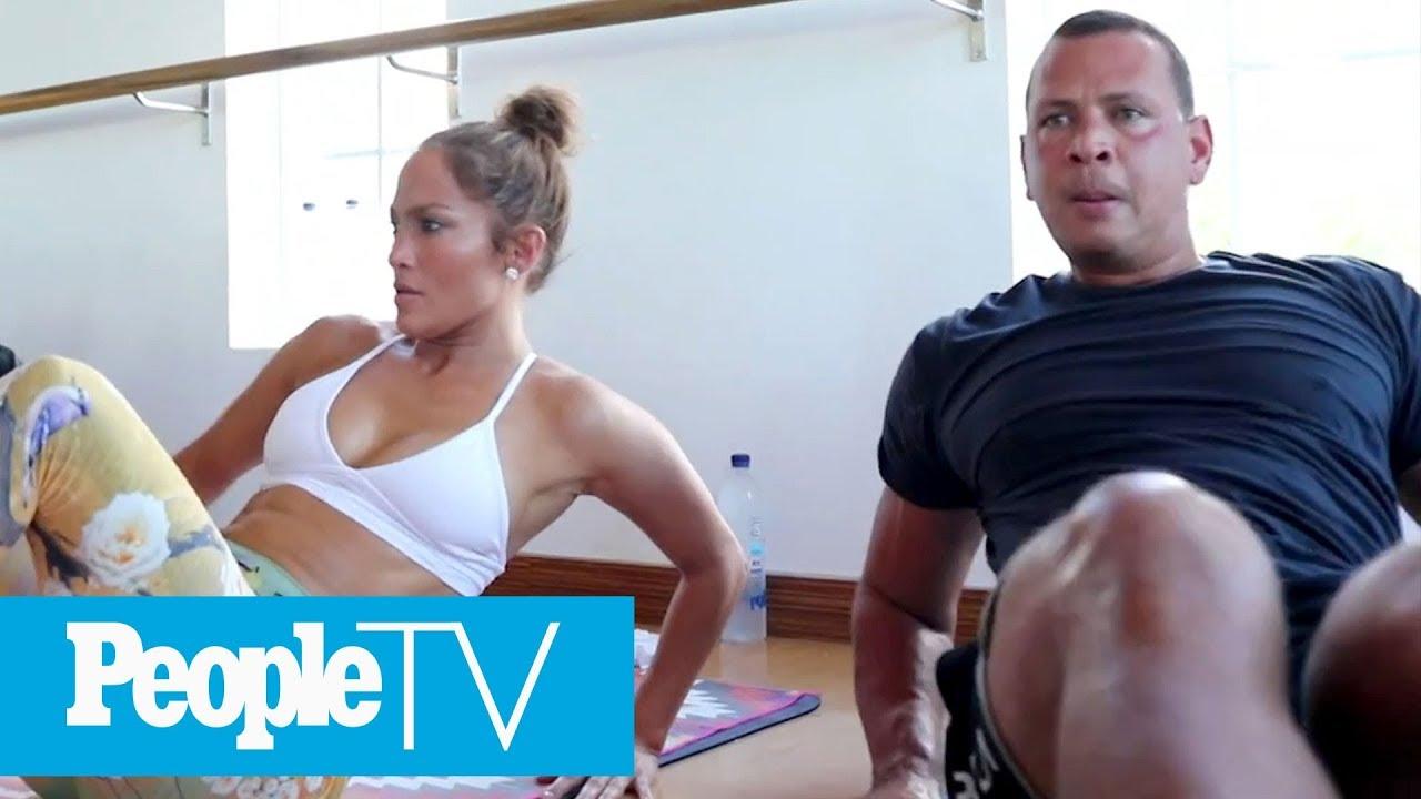 dbfdacd8e8107e Jennifer Lopez & Alex Rodriguez Take You Inside Their Intense TruFusion  Workout | PeopleTV