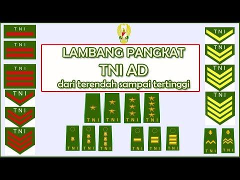 Download Lambang Pangkat TNI AD dari terendah sampai tertinggi