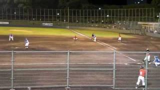 2009年6月12日 9回に登板した吉田えり投手の投球。 1死1,3塁 3番...