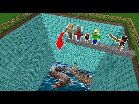 ÖLÜRSEN TİMSAH HAVUZUNA DÜŞERSİN! 😱 - Minecraft