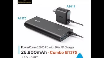 Combo: Pin sạc dự phòng ANKER PowerCore+ 26800mAh PD 30W kèm Sạc Speed PD 30W - B1375