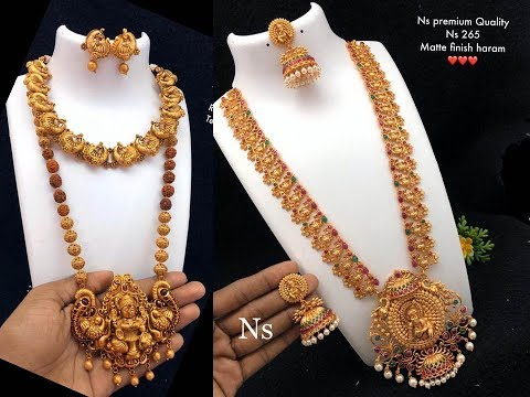 Antique Finish Haram And Necklace set online sale whatsapp